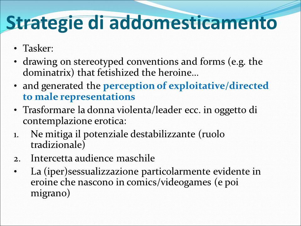 Strategie di addomesticamento