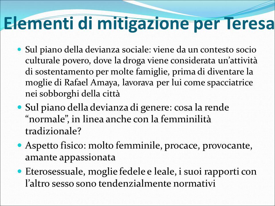 Elementi di mitigazione per Teresa