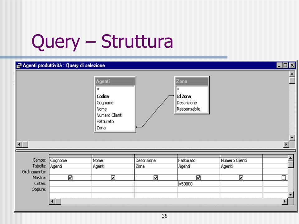 Query – Struttura 38