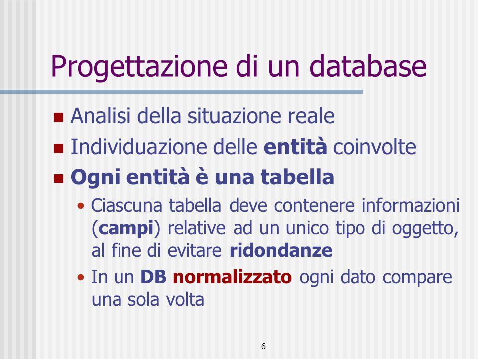 Progettazione di un database