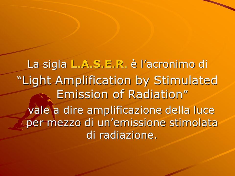 La sigla L.A.S.E.R. è l'acronimo di