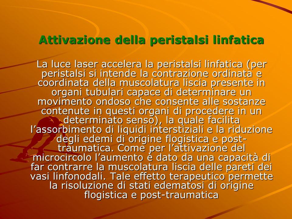 Attivazione della peristalsi linfatica