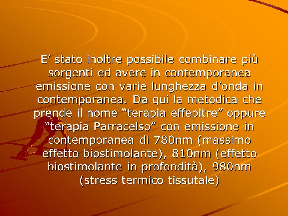 E' stato inoltre possibile combinare più sorgenti ed avere in contemporanea emissione con varie lunghezza d'onda in contemporanea.