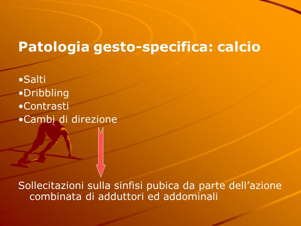 Patologia gesto-specifica: calcio