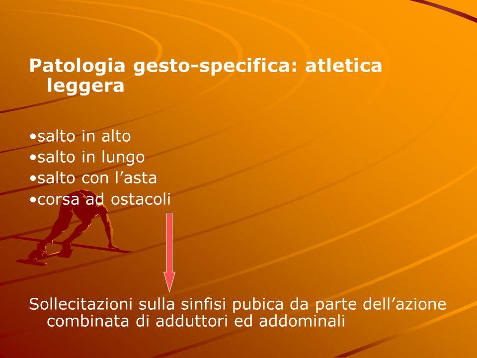 Patologia gesto-specifica: atletica leggera