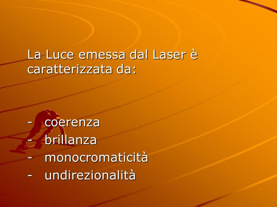 La Luce emessa dal Laser è caratterizzata da: