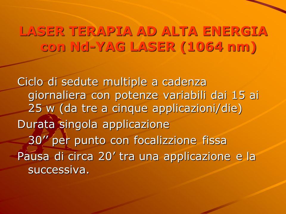 LASER TERAPIA AD ALTA ENERGIA con Nd-YAG LASER (1064 nm)