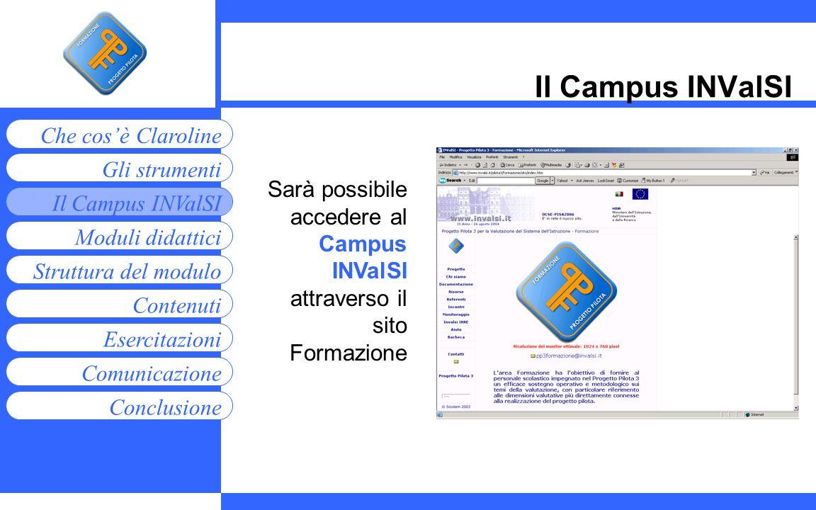 Il Campus INValSI Sarà possibile accedere al Campus INValSI attraverso il sito Formazione