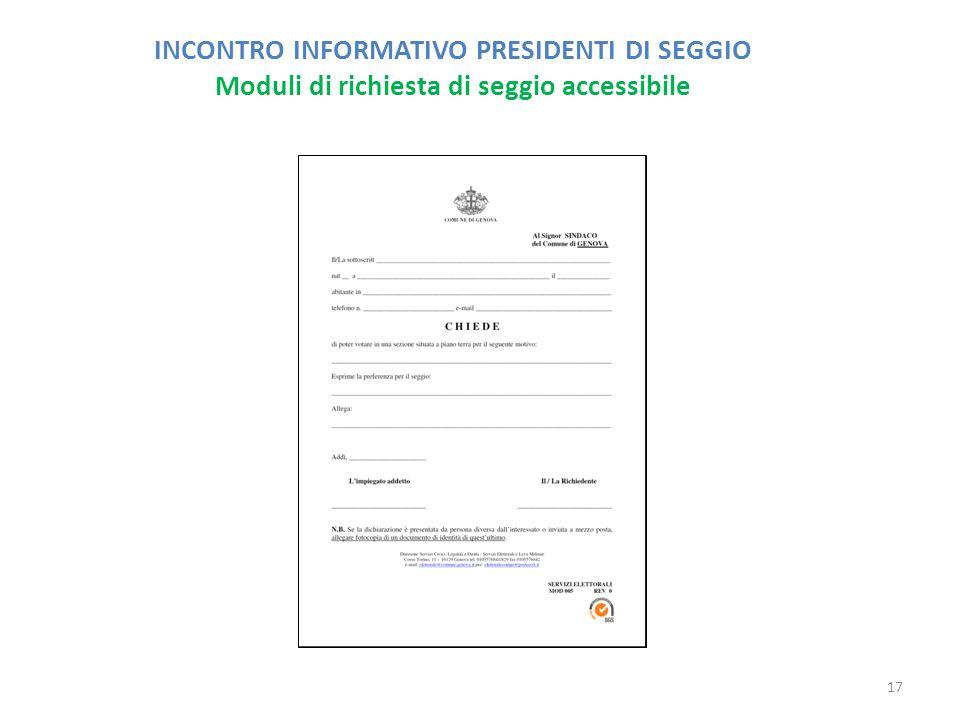 INCONTRO INFORMATIVO PRESIDENTI DI SEGGIO