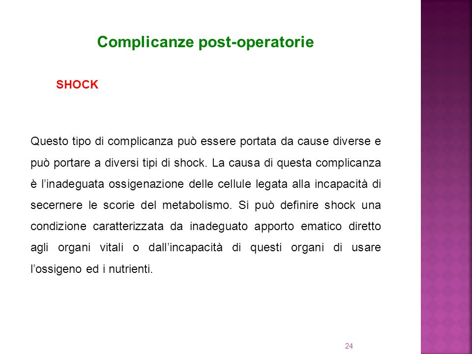 Complicanze post-operatorie