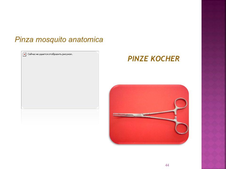Pinza mosquito anatomica