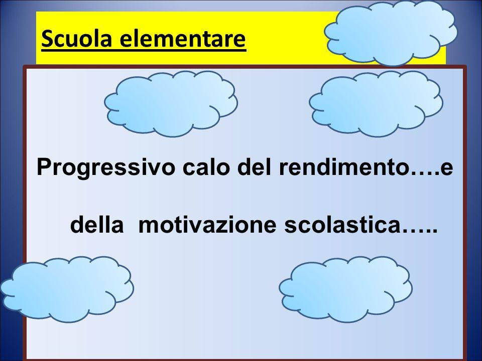 Progressivo calo del rendimento….e della motivazione scolastica…..