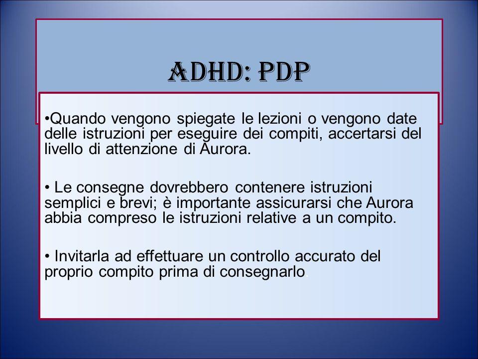 ADHD: PDP