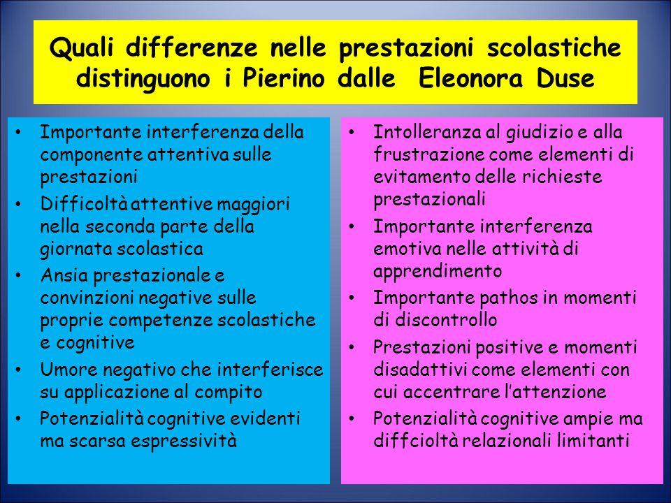Quali differenze nelle prestazioni scolastiche distinguono i Pierino dalle Eleonora Duse