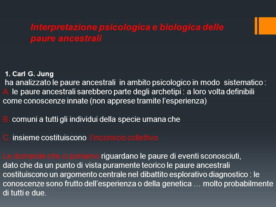 Interpretazione psicologica e biologica delle paure ancestrali