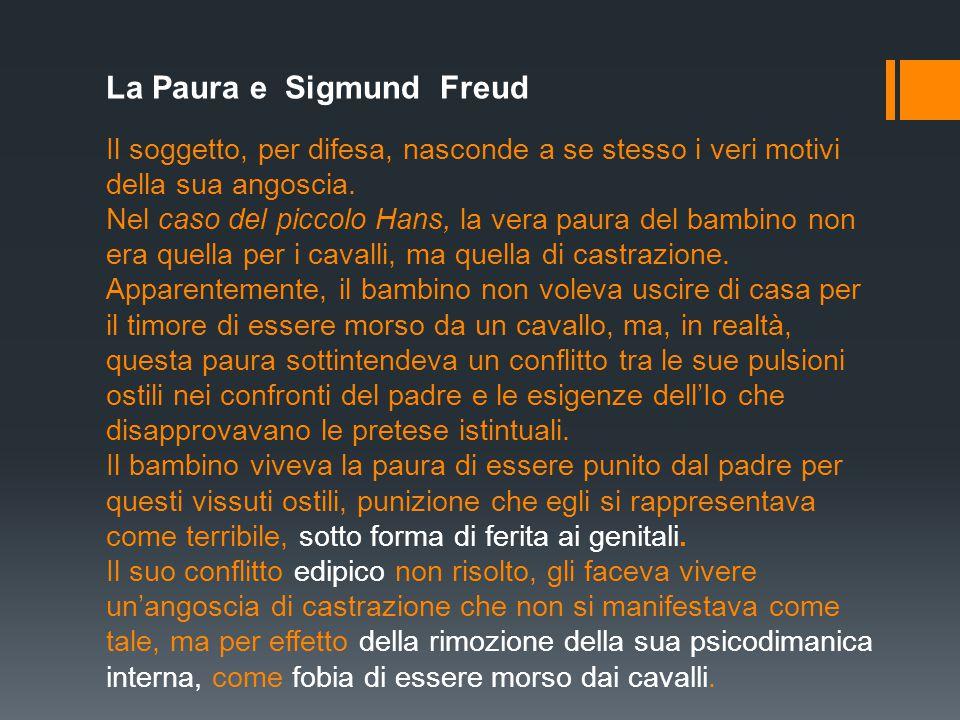 La Paura e Sigmund Freud