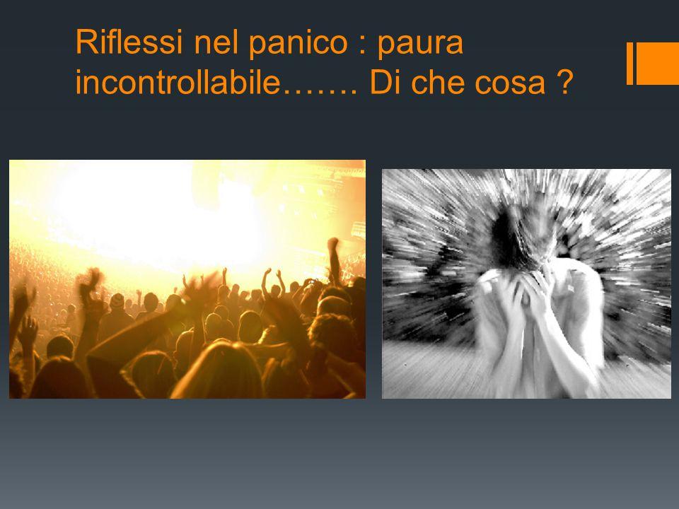 Riflessi nel panico : paura incontrollabile……. Di che cosa