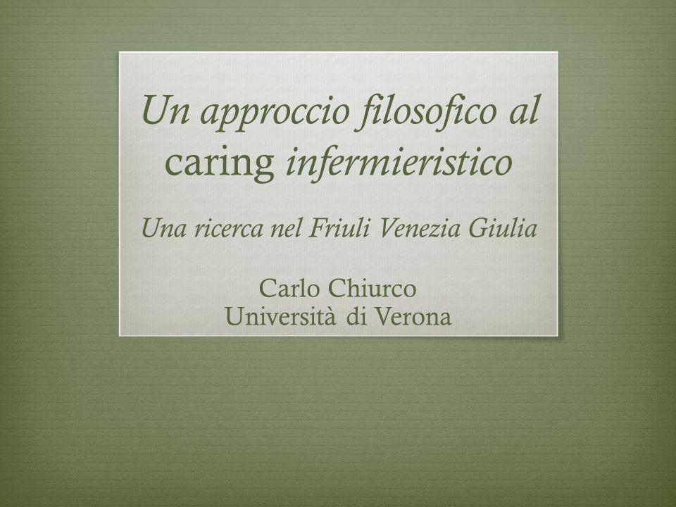 Un approccio filosofico al caring infermieristico