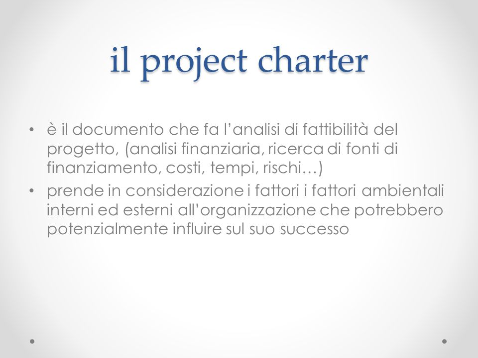 il project charter