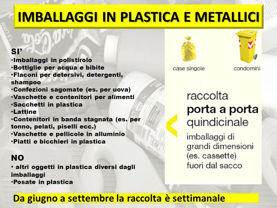 IMBALLAGGI IN PLASTICA E METALLICI