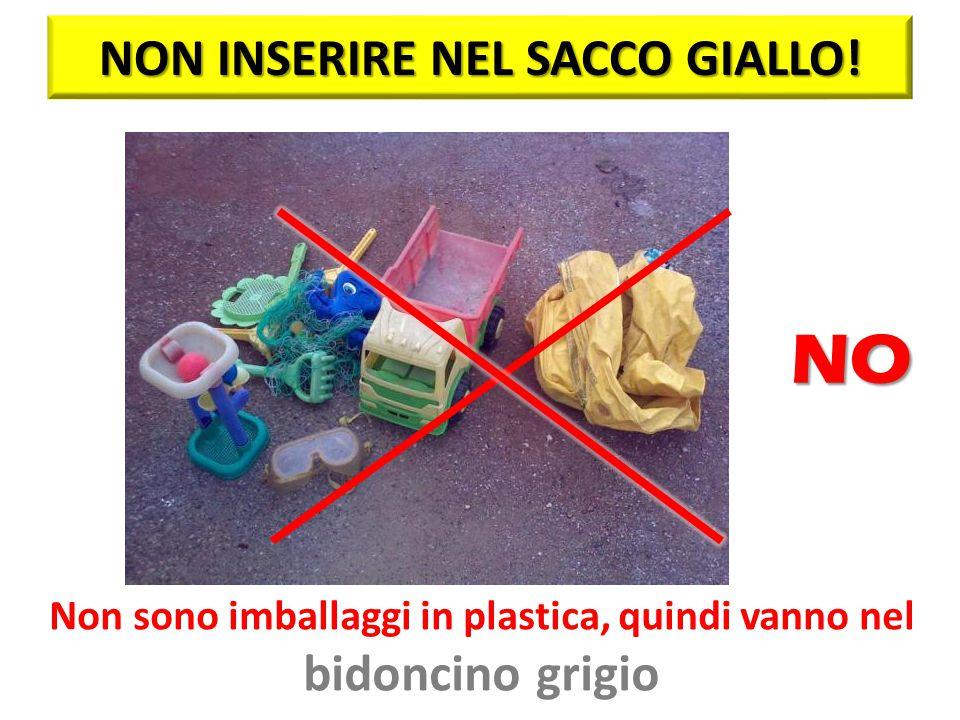 NO NON INSERIRE NEL SACCO GIALLO! bidoncino grigio