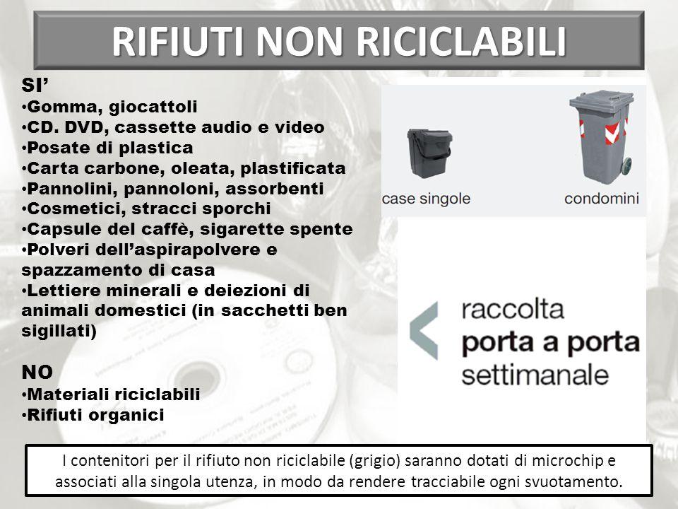 RIFIUTI NON RICICLABILI