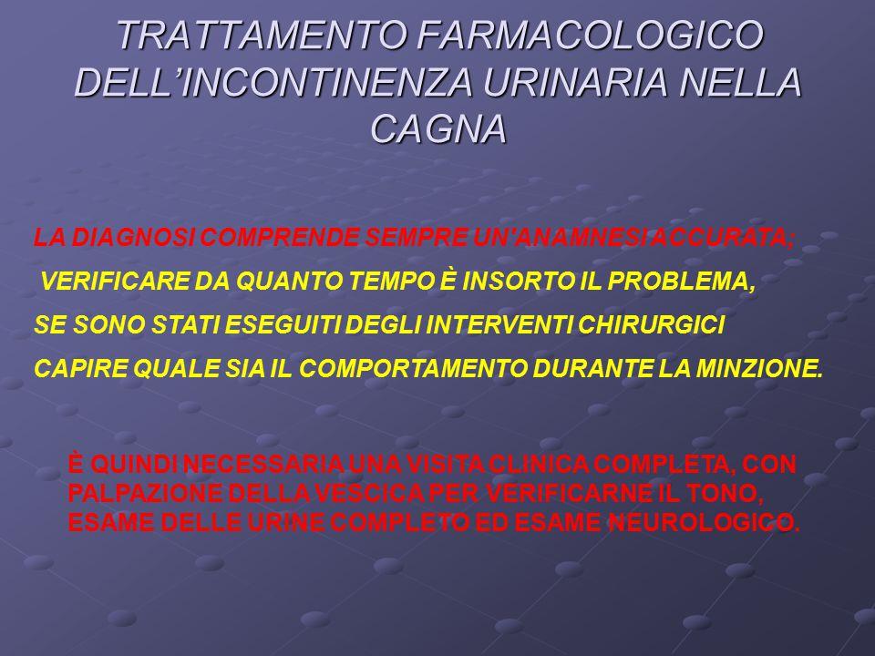 TRATTAMENTO FARMACOLOGICO DELL'INCONTINENZA URINARIA NELLA CAGNA