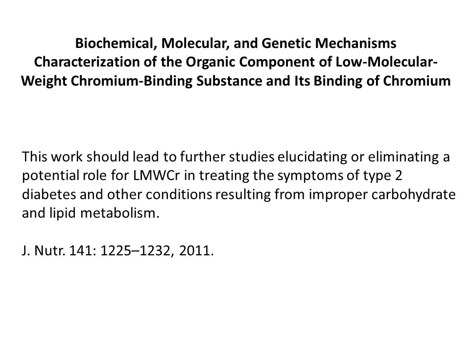 Biochemical, Molecular, and Genetic Mechanisms
