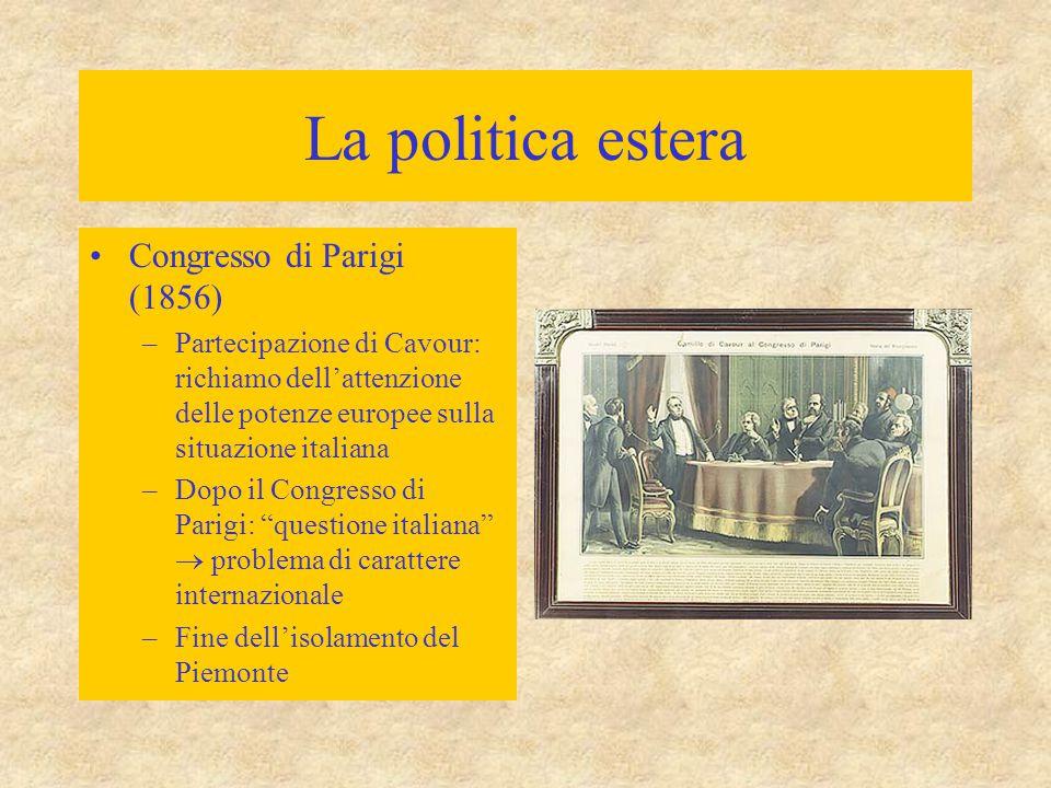 La politica estera Congresso di Parigi (1856)