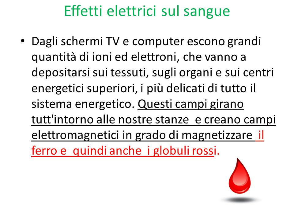 Effetti elettrici sul sangue