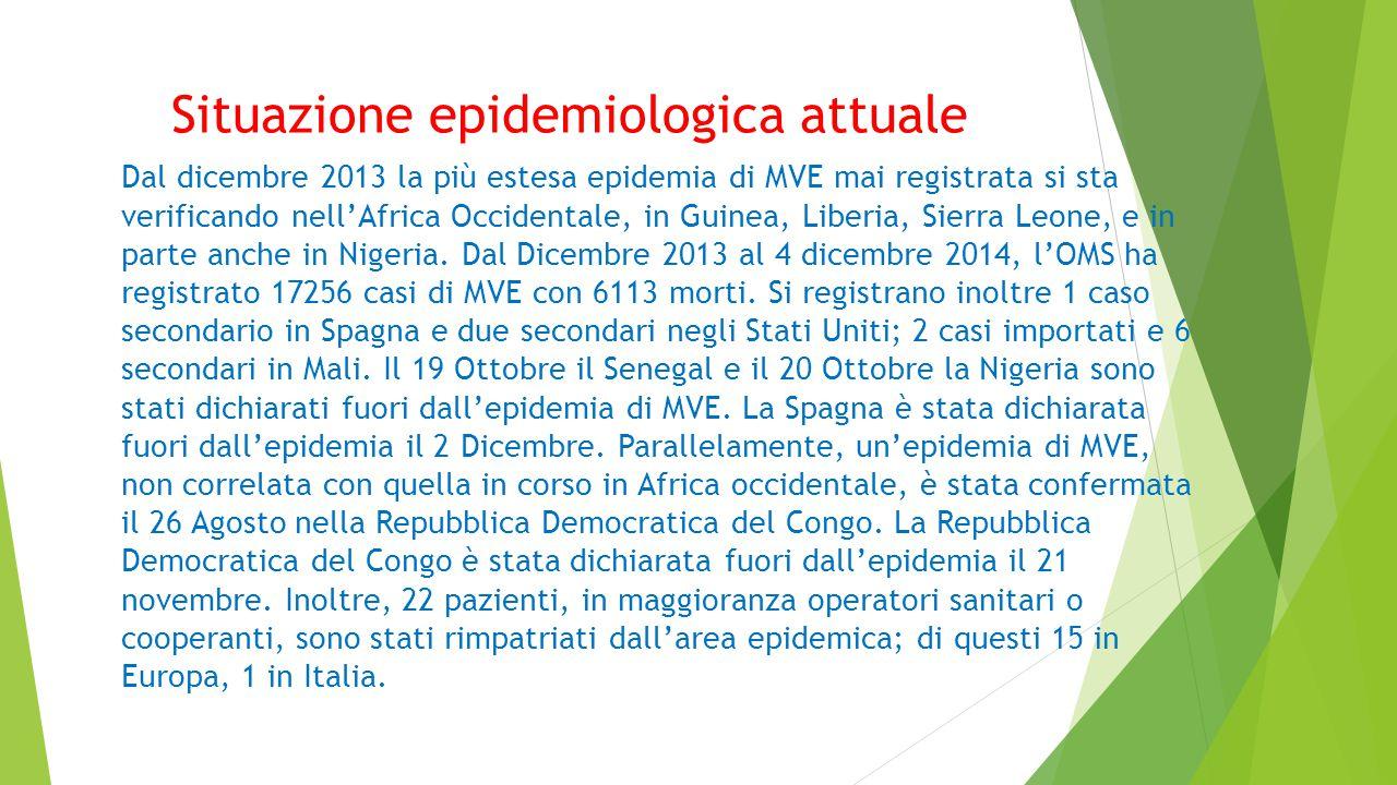 Situazione epidemiologica attuale