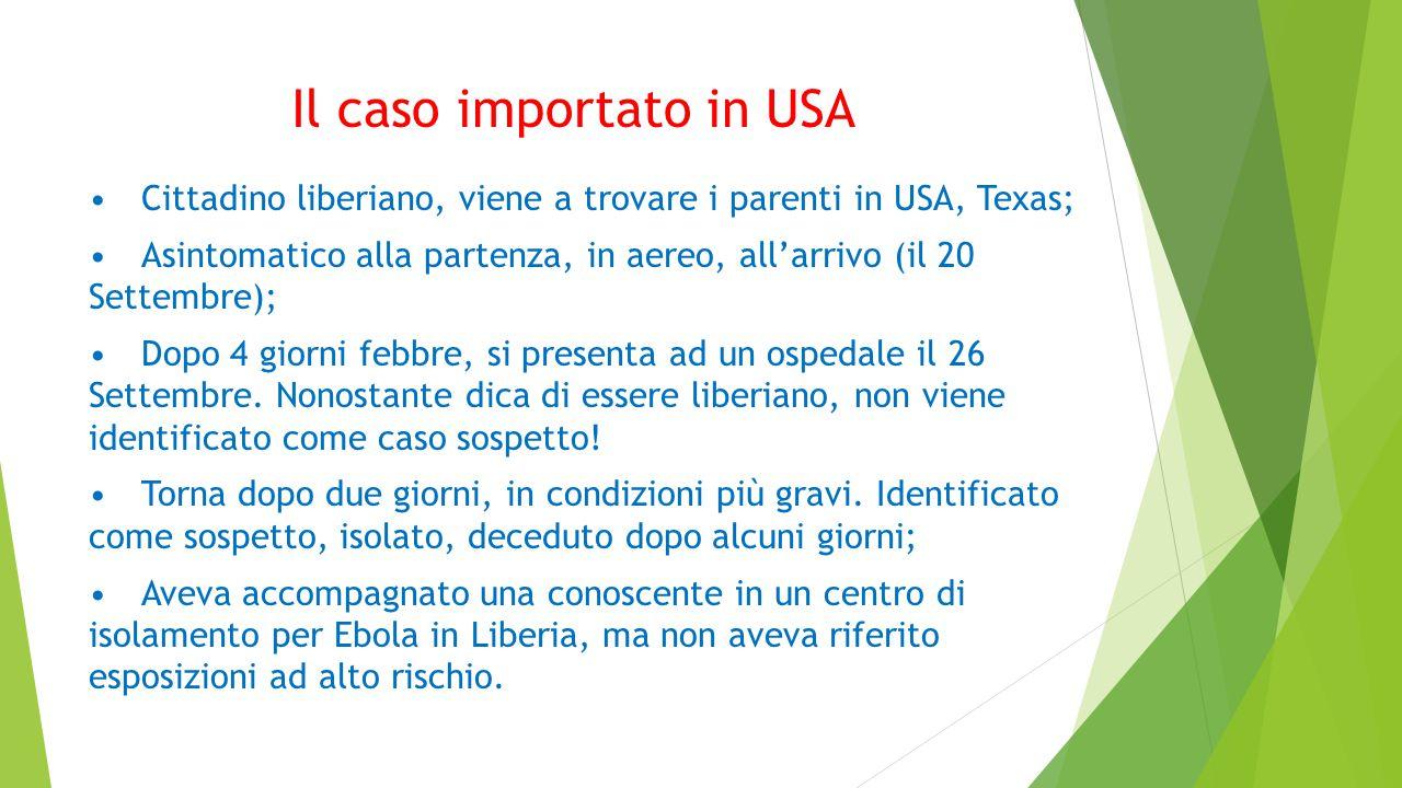 Il caso importato in USA