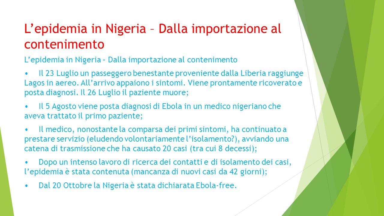L'epidemia in Nigeria – Dalla importazione al contenimento
