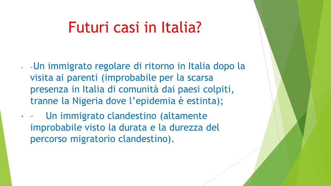 Futuri casi in Italia