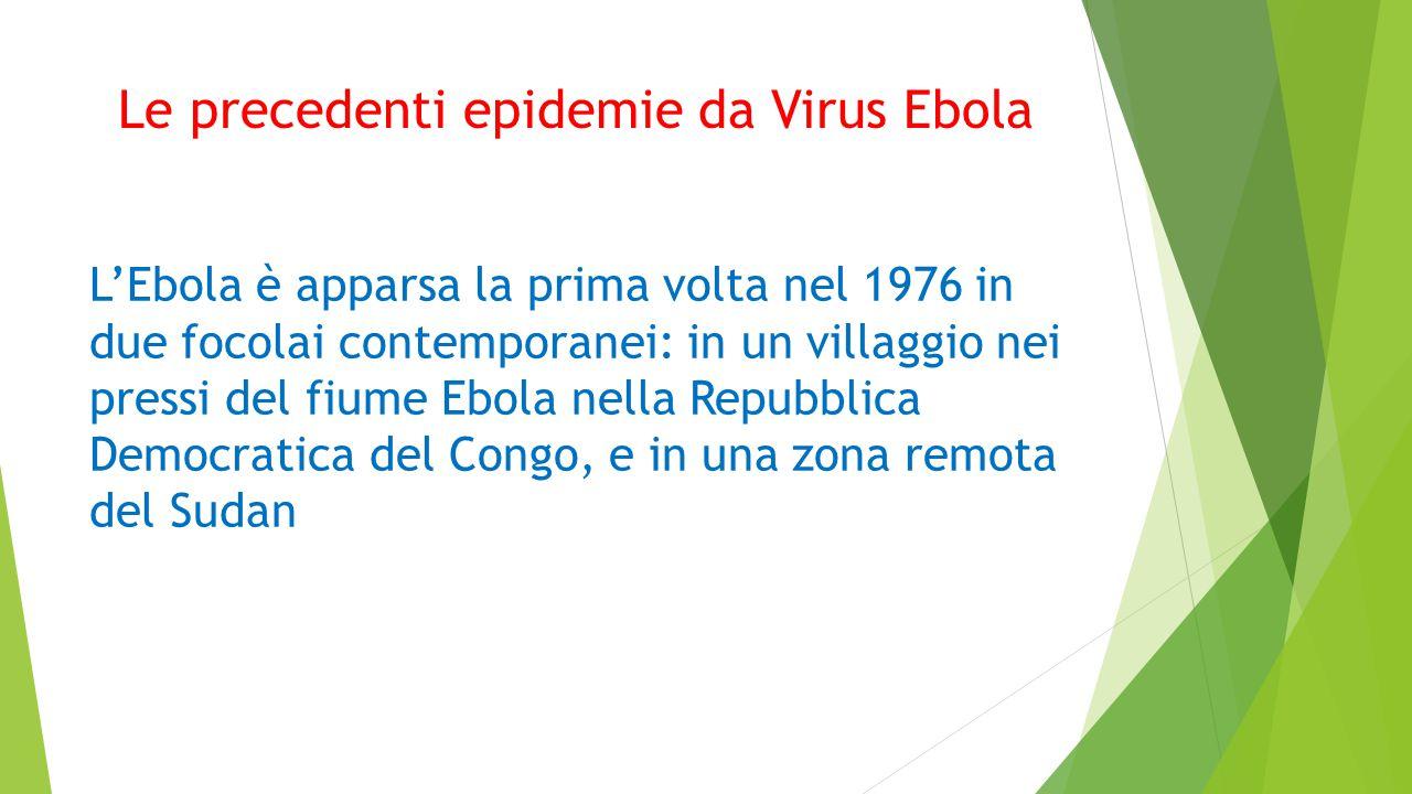Le precedenti epidemie da Virus Ebola