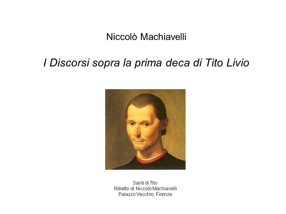 I Discorsi sopra la prima deca di Tito Livio