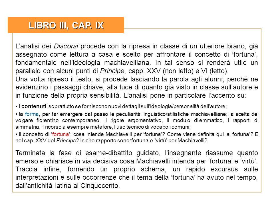 LIBRO III, CAP. IX