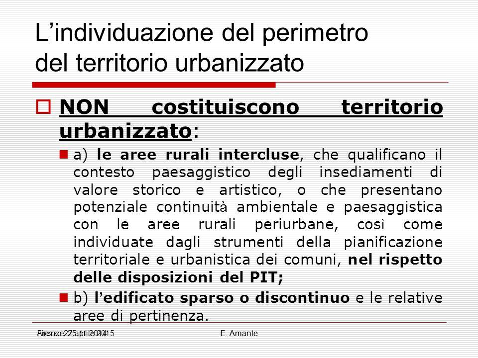 L'individuazione del perimetro del territorio urbanizzato