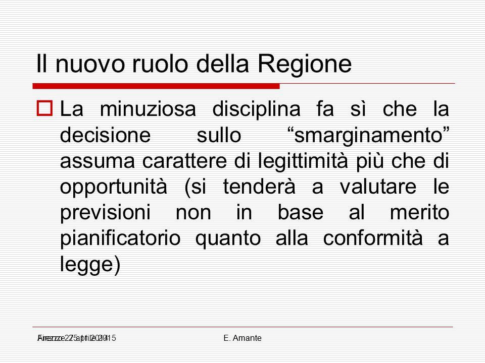 Il nuovo ruolo della Regione