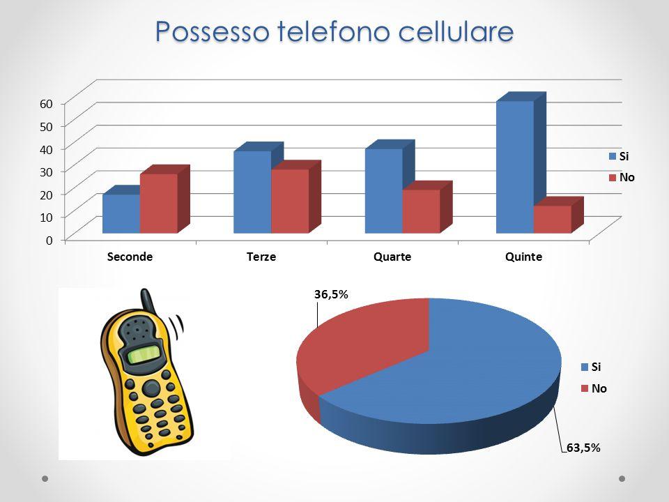 Possesso telefono cellulare