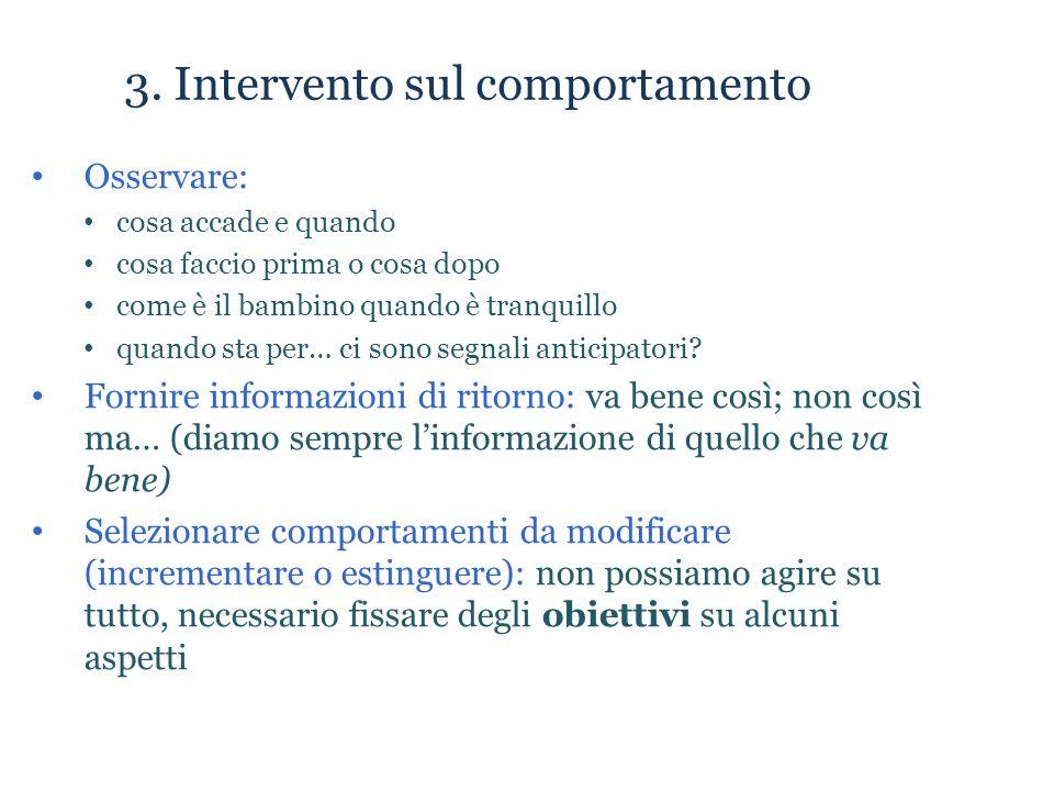 3. Intervento sul comportamento