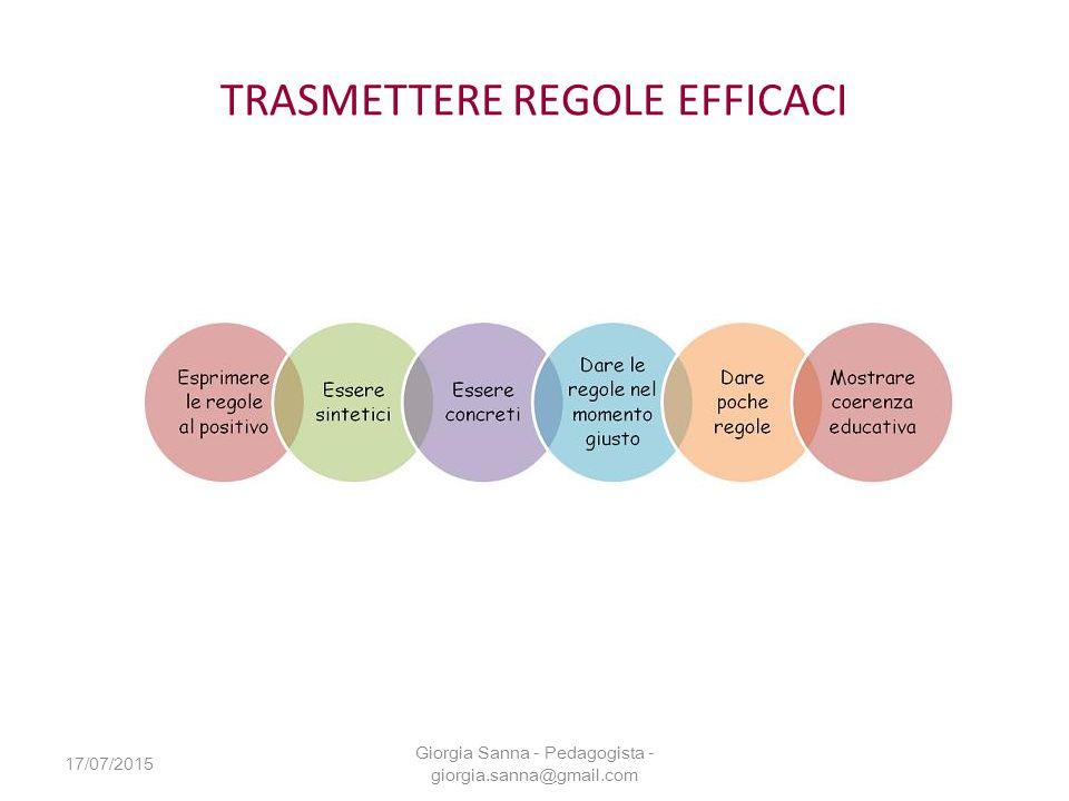 TRASMETTERE REGOLE EFFICACI