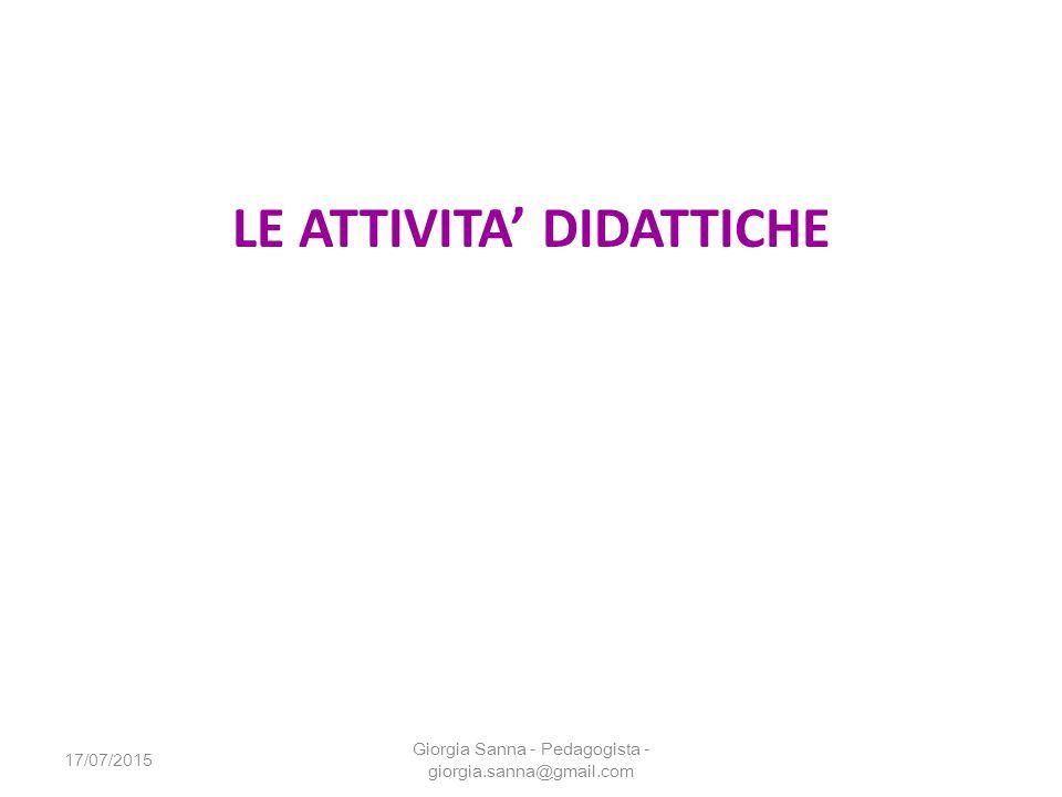 LE ATTIVITA' DIDATTICHE
