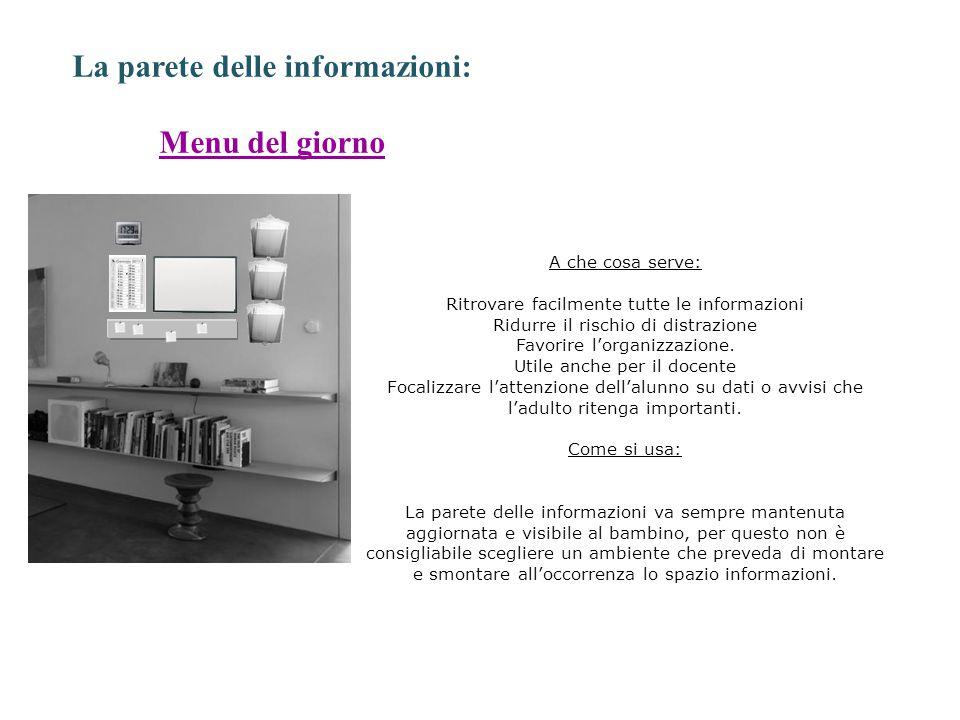 La parete delle informazioni: