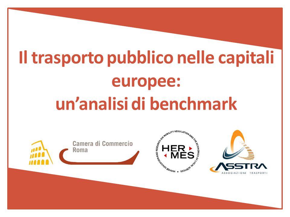 Il trasporto pubblico nelle capitali europee: un'analisi di benchmark