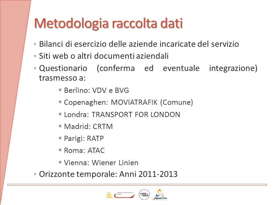 Metodologia raccolta dati
