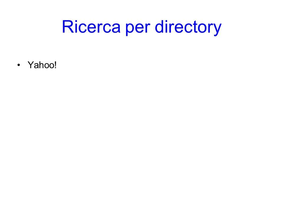 Ricerca per directory Yahoo! Ricerca per directory