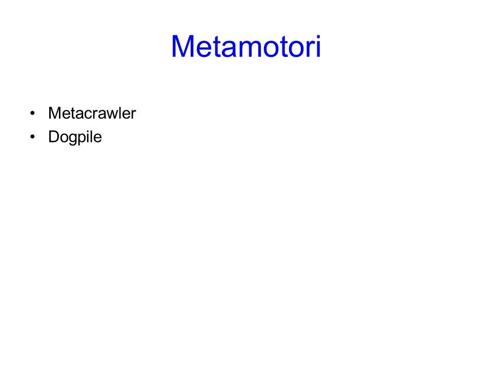 Metamotori Metacrawler Dogpile Metamotori