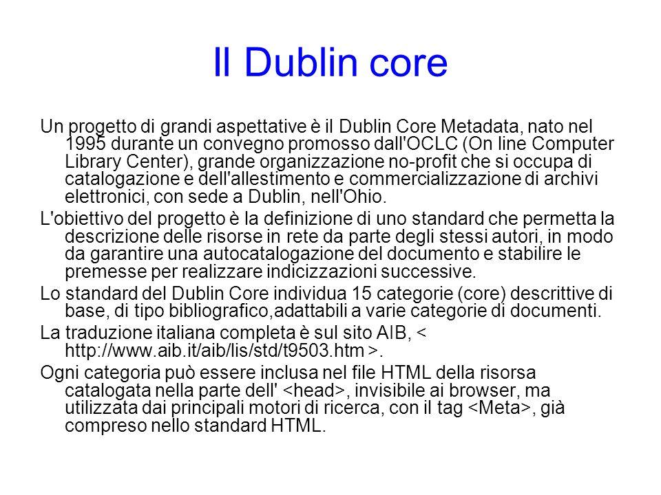 Il Dublin core