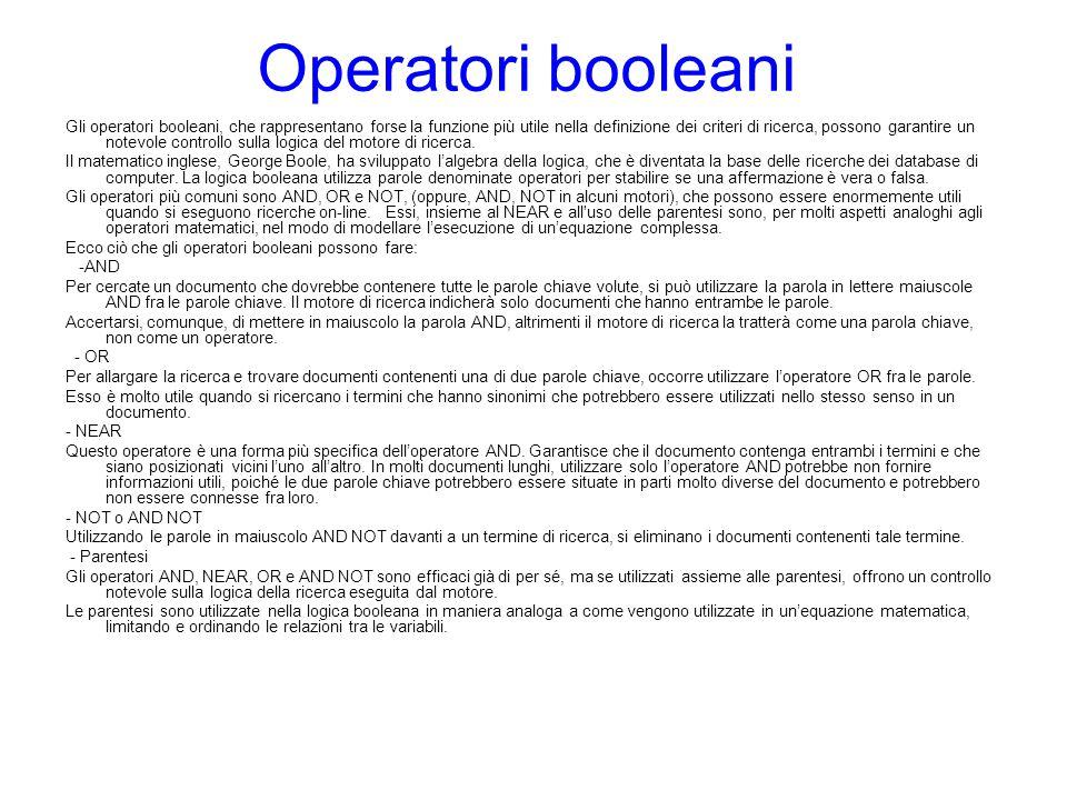 Operatori booleani